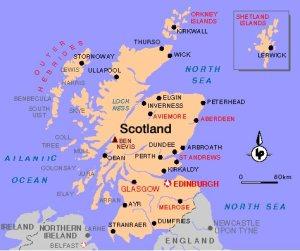 Escocia Mapa político