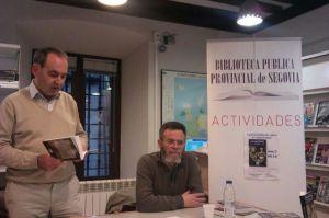 Ignacio Sanz Presentación de libro Bibliioteca Pública Segovia