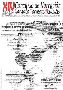 Cartel Concurso de Narración Gonzalo Torrente Ballester 2013-2014