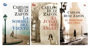 Portadas de la trilogía de El cementerio de los libros olvidados