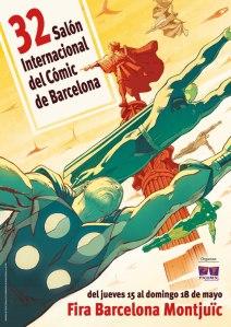Cartel del 32 Salón internacional Cómic Barcelona