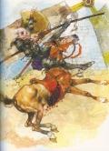 Ilustración de DQ arremetiendo contra los molinos Vícto G Ambrus
