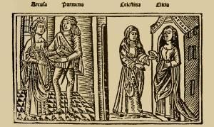 Imágnes de la Comedia de Calisto y Melibea, edición 1499