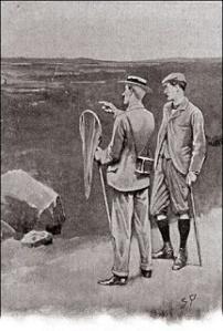 Ilustración capítulo 7 El sabueso de los Baskerville Conan Doyle