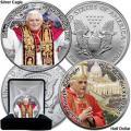 Monedas con Benedicto XVI