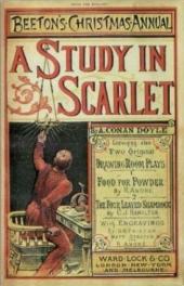 Portada 1887 A Study in Scarlet Conan Doyle