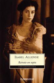 Portada Retrato en sepia Isabel Allende Debolsillo