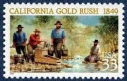Sello conmemoración Fiebre del oro en California