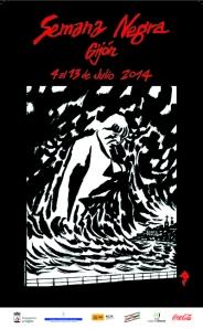 Cartel XXVII Semana Negra de Gijón Del 4 al 13 julio