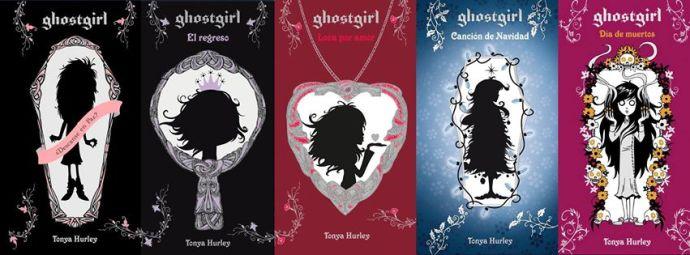 Portada de los cinco libros de la saga Ghostgirl