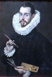 Retrato del hijo del Greco Jorge Manuel Theotocópulos Museo de BBAA de Sevilla