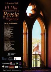 Cartel VI Día Internacional de la Poesúa en Segovia