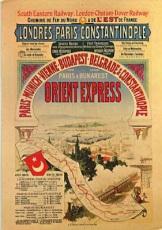 Cartel original anunciador del Orient Express