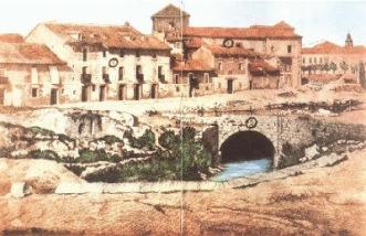 Foto antigua del rastro de los cArneros al comienzo del siglo XVII