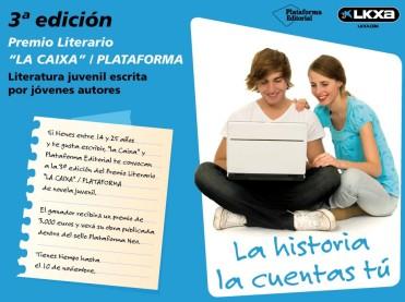 Premio literario La Caixa Plataforma Literatura juvenil escrita por jóvenes autores