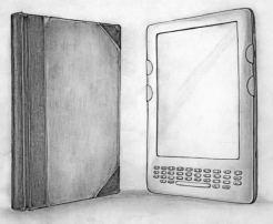 Libro-de-papel-y-libro-electrónico